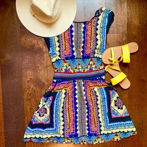 Warehouse Aztec Print Dress 👗 with Pockets!